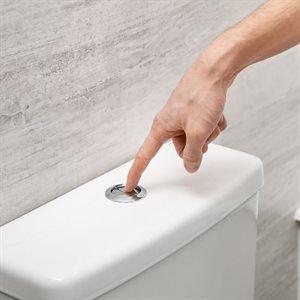 2-Piece Toilet Dual Flush 4L / 6L Elongated Bowl White