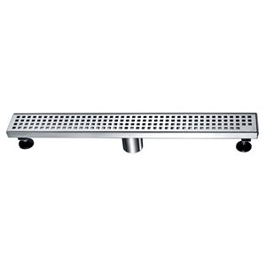 Linear Shower Drain Sq. Grid 2in 24in x 3in x 3 1 / 8in