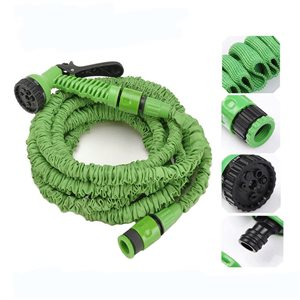 Expand-A-Hose Extendable Hose Up to 50ft (15m) With Quick Coupling & Multi-Purpose Nozzle