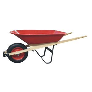 Wheelbarrow 4 cu.ft. Pneumatic Tire Wooden Handle