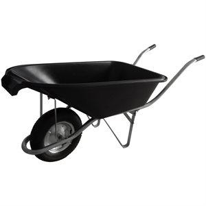 Wheelbarrow 6 cu.ft. Plastic Tray Air Wheel Metal Handle