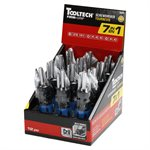 12PC Screwdriver 7in1 With Wall Storage Clip Display