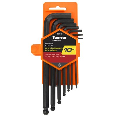 10PC Ball End Hex Key Set -Met Cr-V