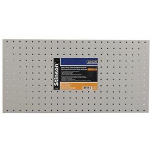Heavy Duty Steel Pegboard Panel 23.5in x 11.8in Gray