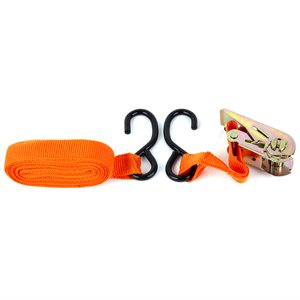 1in x 15ft Ratchet Tie Down - 600 LB BS