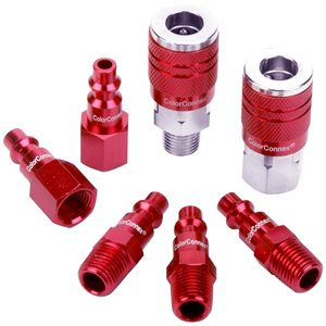 Red Coupler & Plug Kit ¼in 7pc