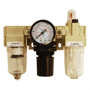 Air Filter L Reg. & Lubricator with Gauge