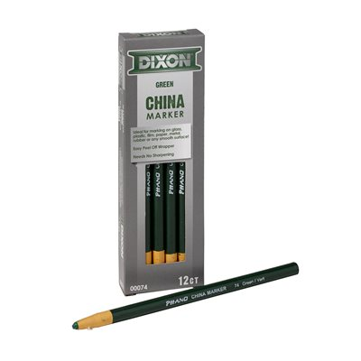 12pk China Markers - Paper Wrapped Green