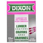 12Pk Lumber Crayon Neon Pink 526