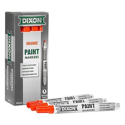 12pk Paint Marker - Valve Action - Medium Tip - Orange
