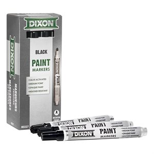 12pk Paint Marker - Valve Action - Medium Tip - Black