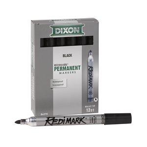 12pk Dixon RediMark 6in Metal Barrel - Bullet Point Black