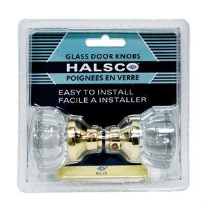 Door Knob Glass With Spindle Halsco Ha-25