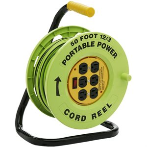 Electrical Cord Reel w / 50ft 12 / 3 Cord