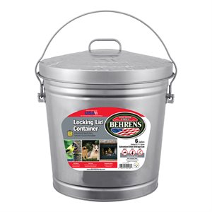 6 Gal. Galvanized Pail Locking Lid