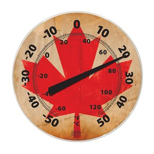 12in Dial Thermometer - Canada Flag
