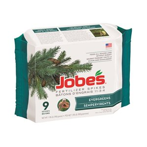 11-3-4 Evergreen Fertilizer Spikes 9 / Pkg