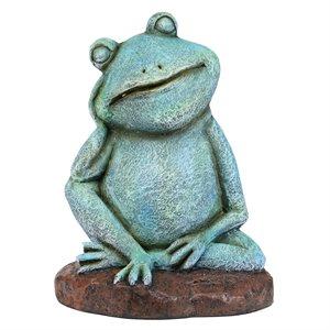 Garden Statue Pensive Frog