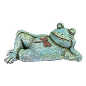 Garden Statue Frog Relaxing