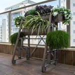 Raised Bed Planter 4-Tier With 2-Side Planter Stone