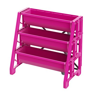 Raised Bed Planter 3-Tier Pink