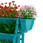 2PC Raised Bed Side Planter Kit Turquoise