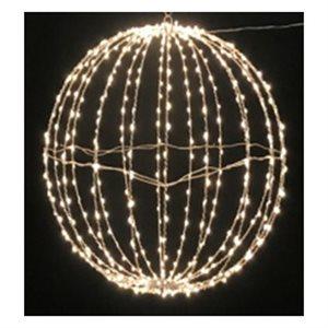 GLO Plug in Hanging Metal Sphere with 1140 Warm White Twinkling Bulbs 31.5in diameter