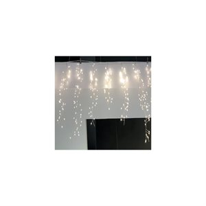 GLO Plug-in Cluster Curtain Light String with 240 Warm White Bulbs 7.25inWx24inL