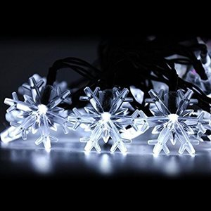 GLO Battery Powered Micro LED Light Set With 3D Snowflakes