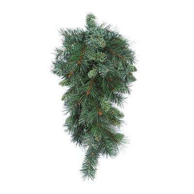 Mixed Pine Teardrop Swag 24in