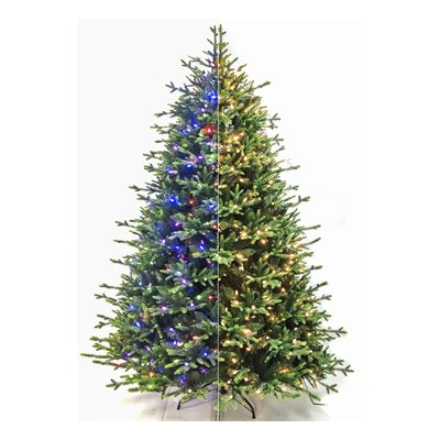 Realistic Nordic Pine Pre-Lit Artificial Christmas Tree 7-1 / 2ft
