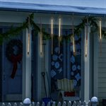 Light String Molded Icicle with Chasing Warm White LED Lights