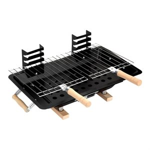 Barbecue 10in x 17ft Hibachi-Style H.D. Iron Body