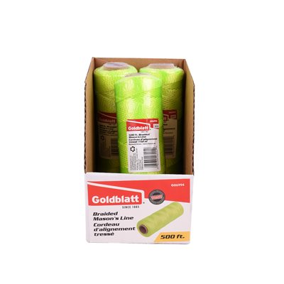 (Offer G11231)Braided Mason's Line Florescent Yellow 500 ft