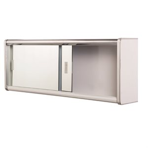 Medicine Cabinet Sliding Doors Surface Mount 30 x 9.5 x 5in